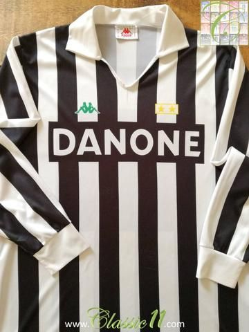 1dff1586b8d Official Kappa Juventus home long sleeve football shirt from the 1992 1993  season.