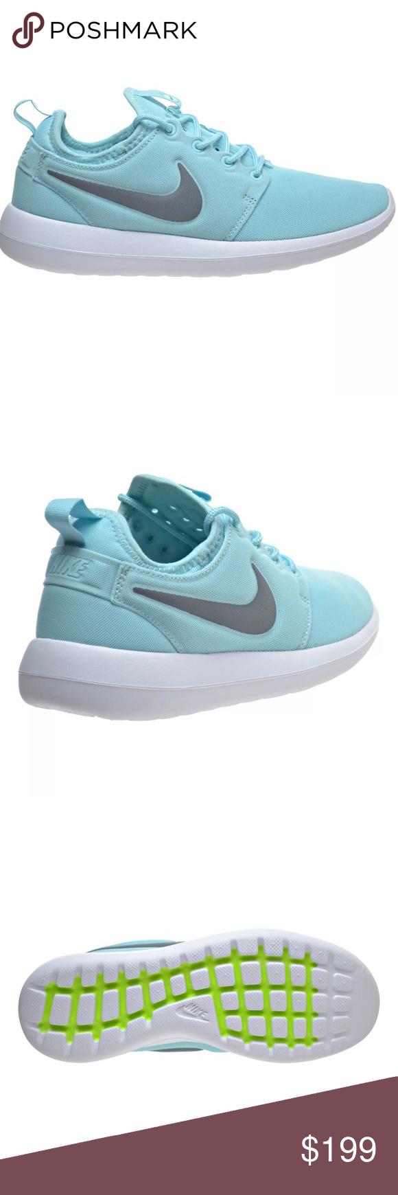 9c378cf9f1543 HP 💞😍 HTH Nike Roshe Tiffany Blue Copa Cool Grey Brand new. New NIKE  ROSHE TWO 9.5 Copa Cool Grey White TIFFANY BLUE 844931 400 Nike Shoes  Athletic Shoes