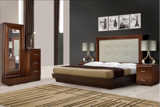 Recamara de madera de pino con mdf disponible en for Recamaras precios