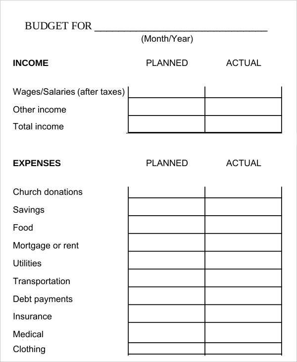 Bi Weekly Family Budget Worksheet Template , 9 Bi Weekly Budget - monthly management report template