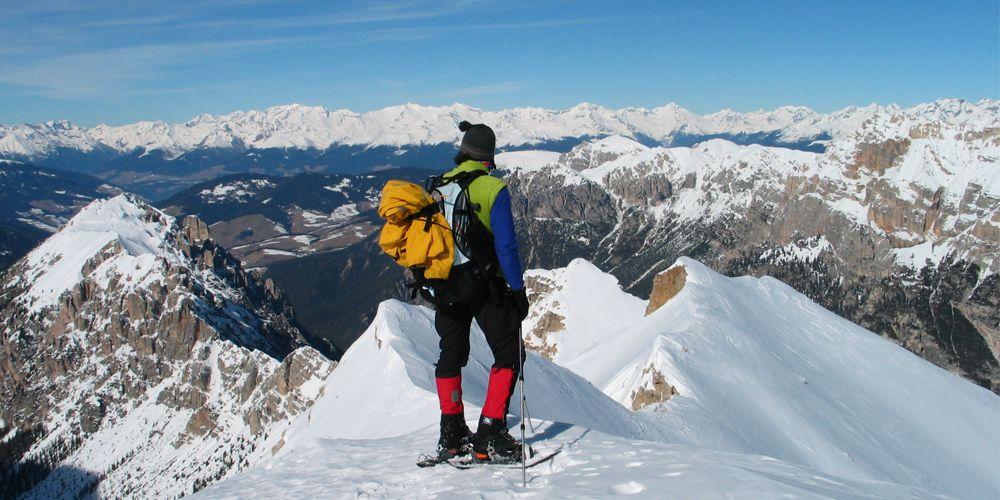 Lumikenkäilyä Dolomiiteilla!