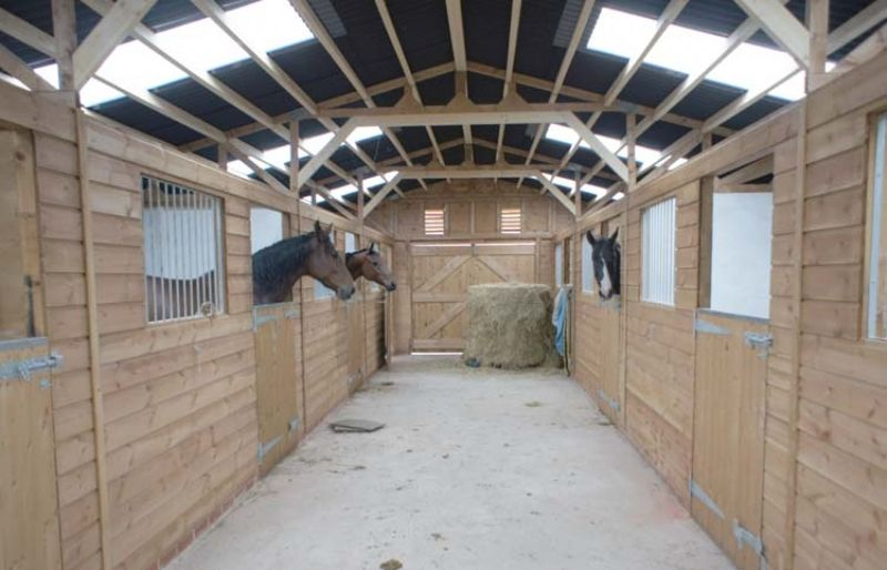 American Barn Interior View By Prime Stables