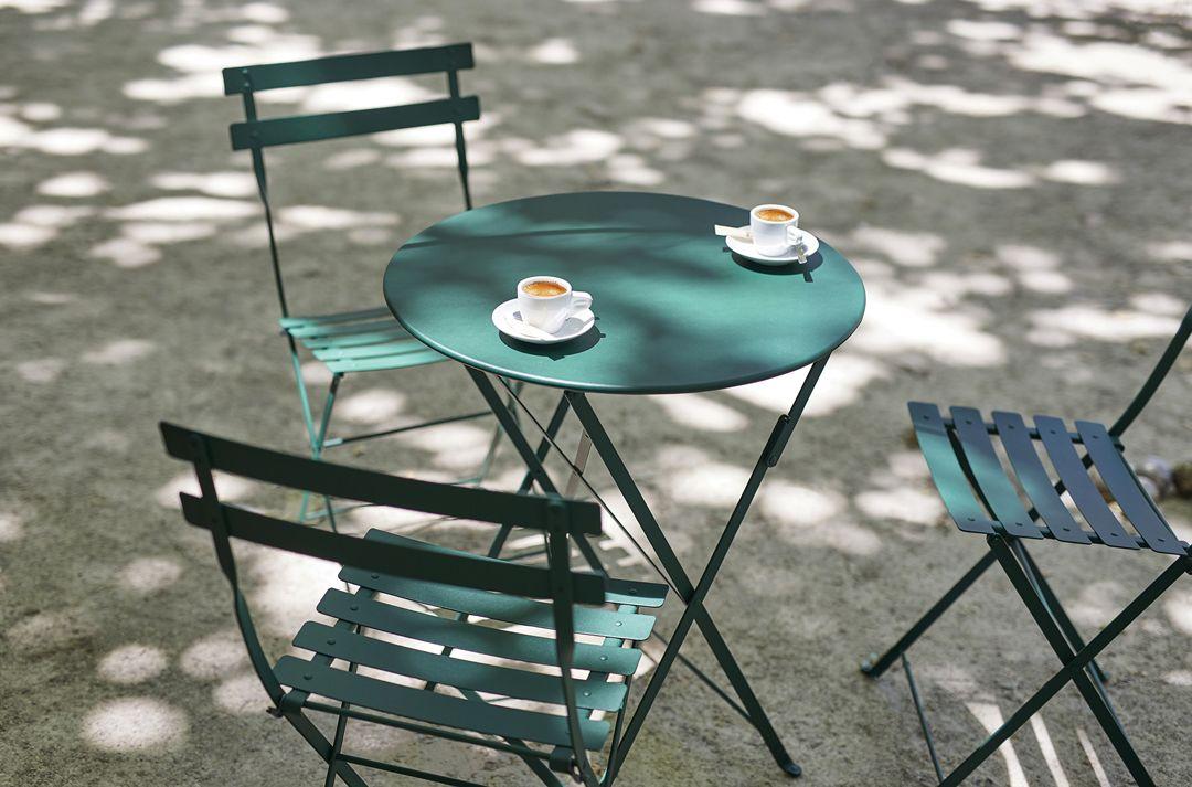 Chaise Metal Bistro Chaise En Metal Mobilier De Jardin En 2020 Mobilier Jardin Table Bistrot Table De Jardin