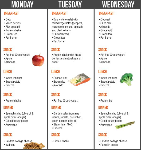 weight losee diet menu