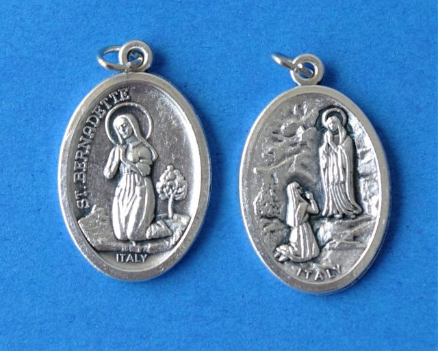 Catholic Religious Medals- Bernadette/Lourdes 48cents