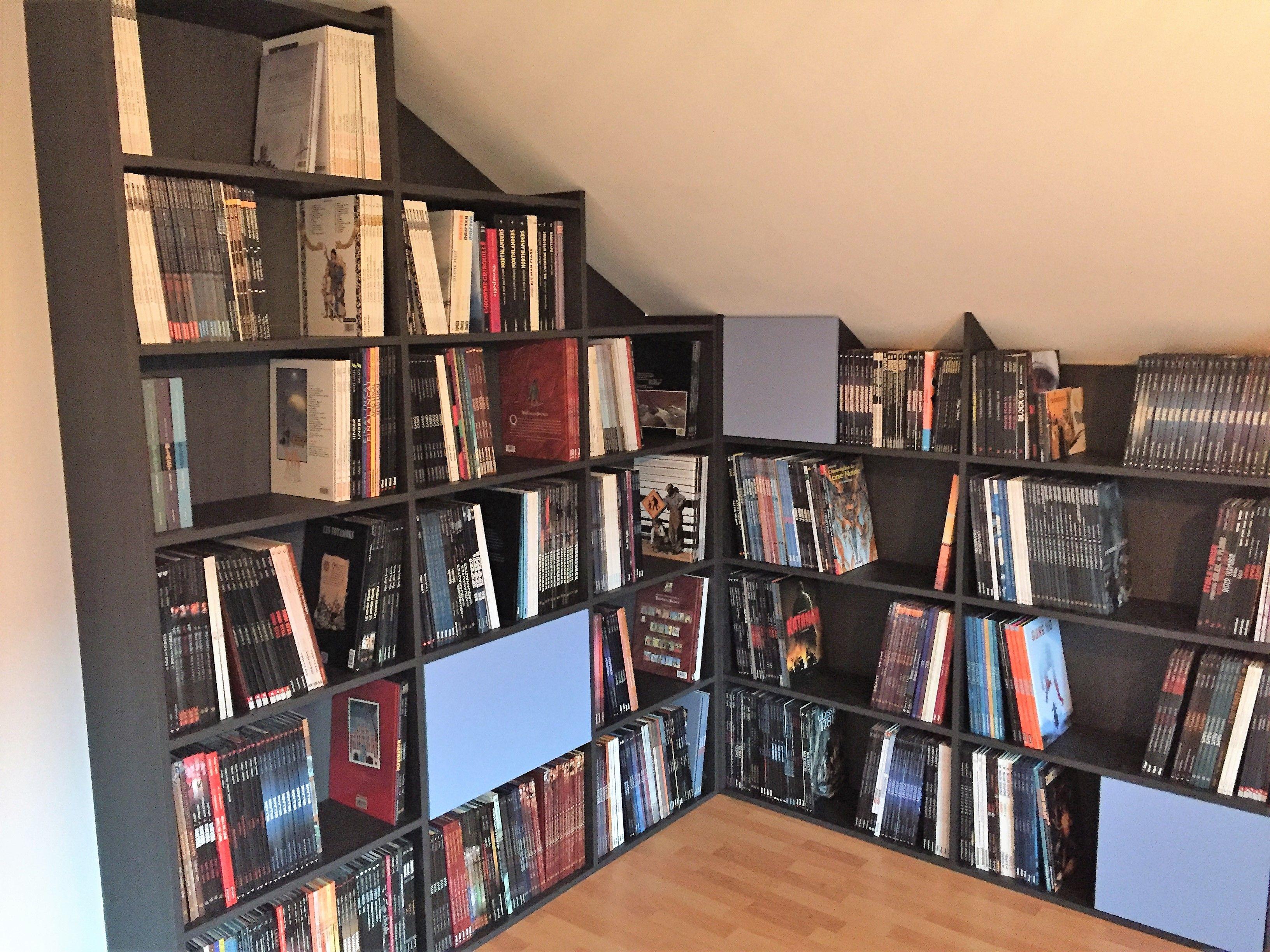bibliotheque sous pente meuble sous