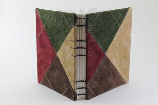 Argyle leather sketchbook. www.boundenstudio.com