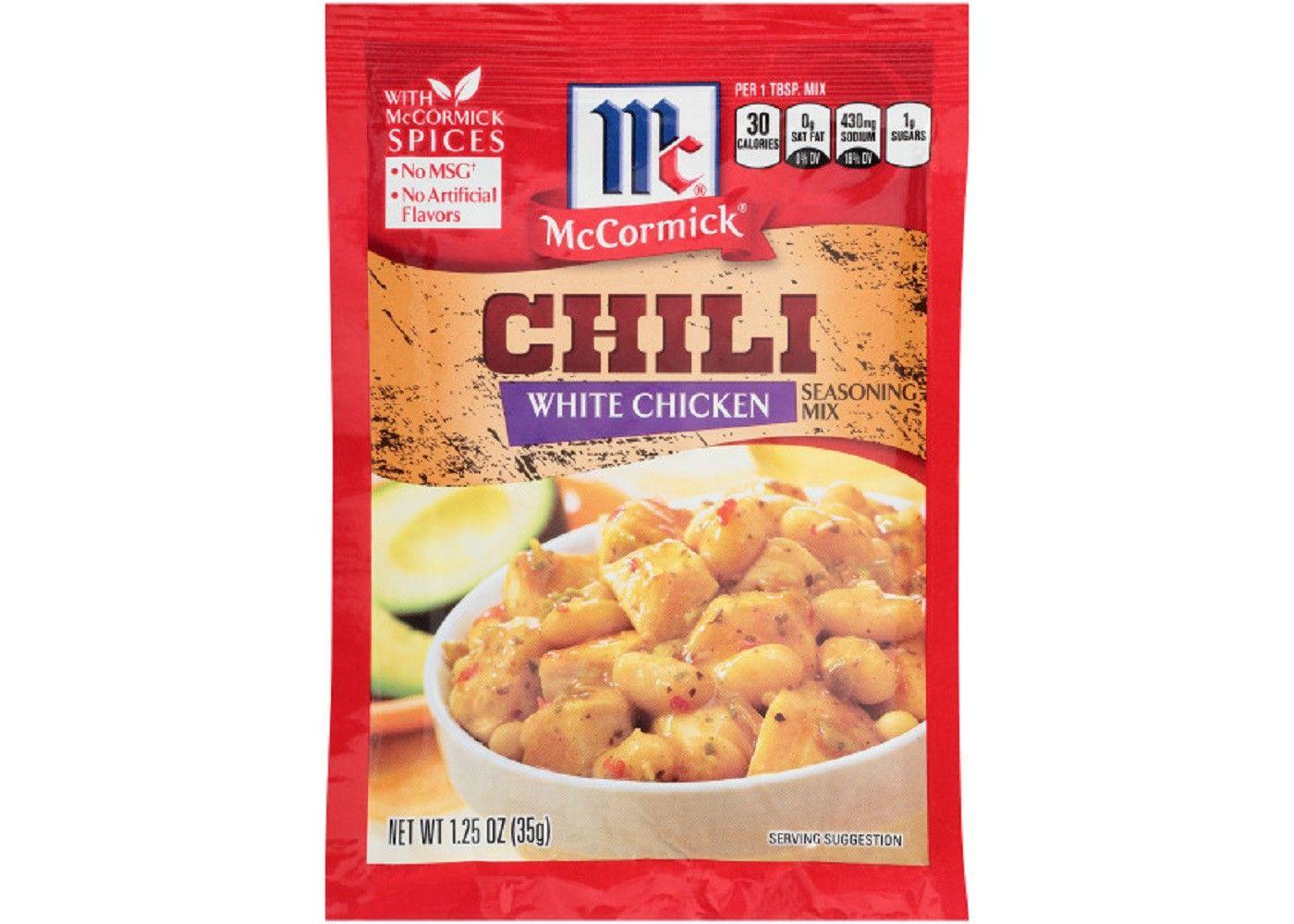 Mccormick White Chicken Chili Seasoning Mix 1 25oz White Chicken Chili Mccormick White Chicken Chili White Chicken
