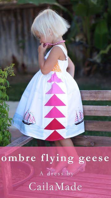 Dreiecke ist lila Verlauf und weiß für ein Kleid