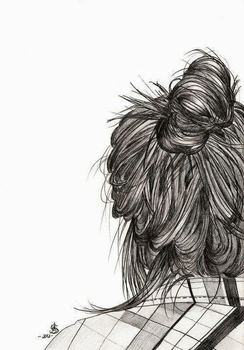 Hair Bun Sketch Messy Bun The Woman S Go To Art Drawing Artwork Cute Easy Drawings