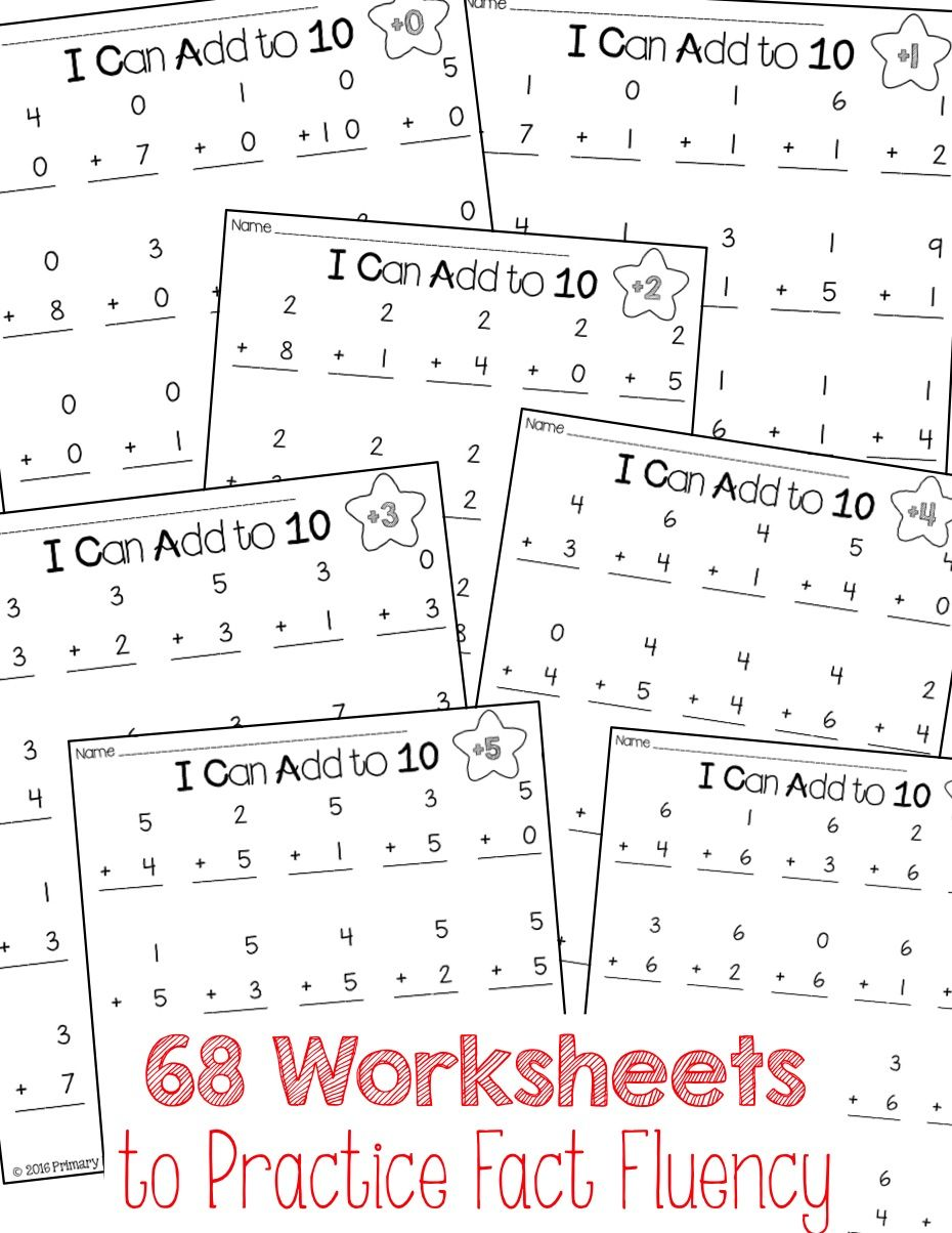 Daily Addition Practice Sheets   Math facts, Math and Worksheets