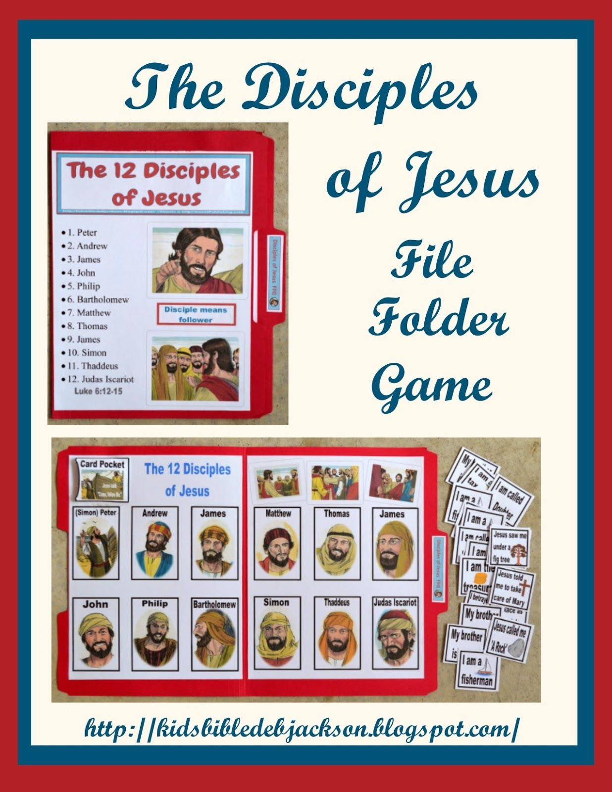 Bible Fun For Kids Disciples Vs Apostles Posters File Folder Game And More