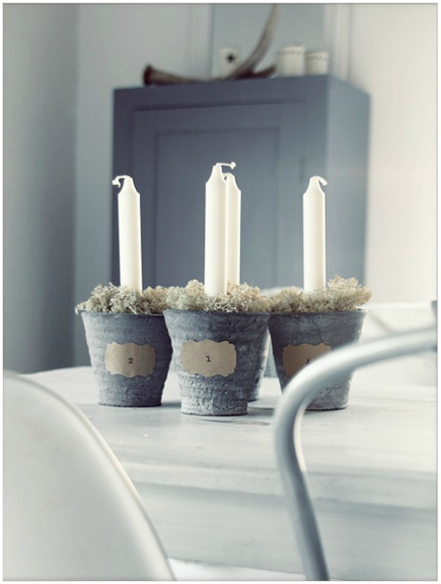 Bougie De L Avent Danoise avent 1 taper candles in little galvanized container buckets