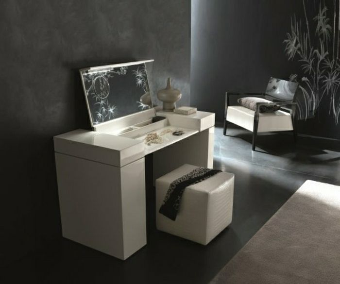jolie coiffeuse avec miroir 40 id es pour choisir la meilleure coiffeuses avec miroir. Black Bedroom Furniture Sets. Home Design Ideas