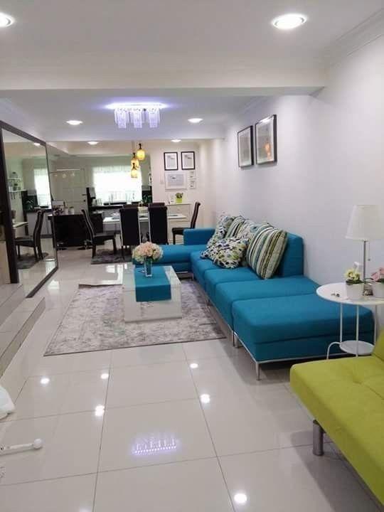 Deco Ruang Tamu Rumah Teres Kos Rendah Desainrumahid com