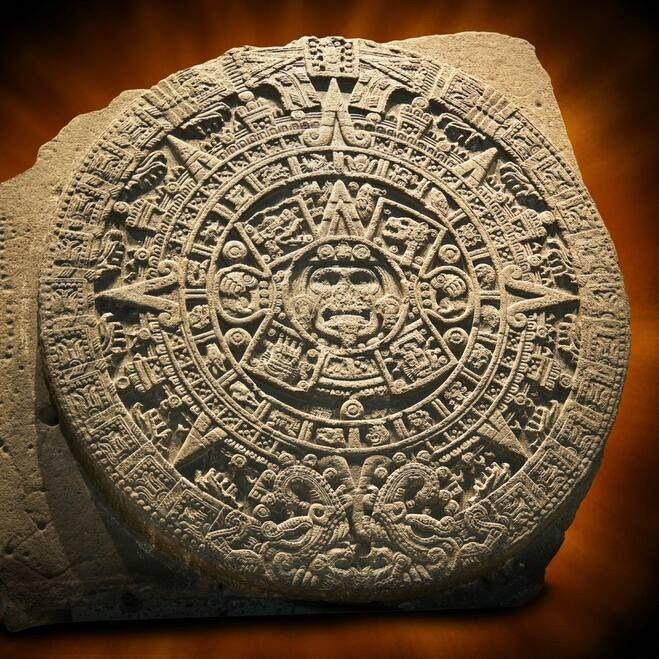 Civ Calendario.Piedra Del Sol Calendario Mexica Mesoamerica Aztec