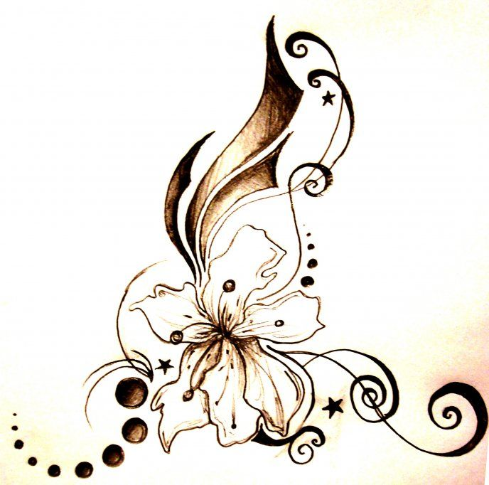 abstract unique flower tattoo hd wallpaper butterfly pinterest unique flowers flower. Black Bedroom Furniture Sets. Home Design Ideas