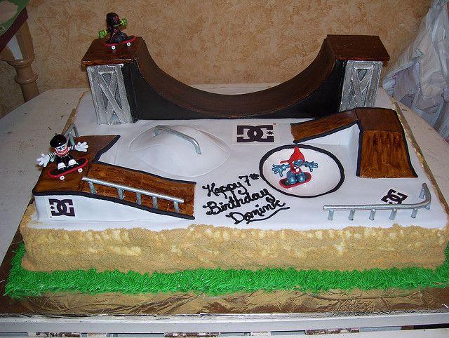Skateboard Ramp Birthday Cake
