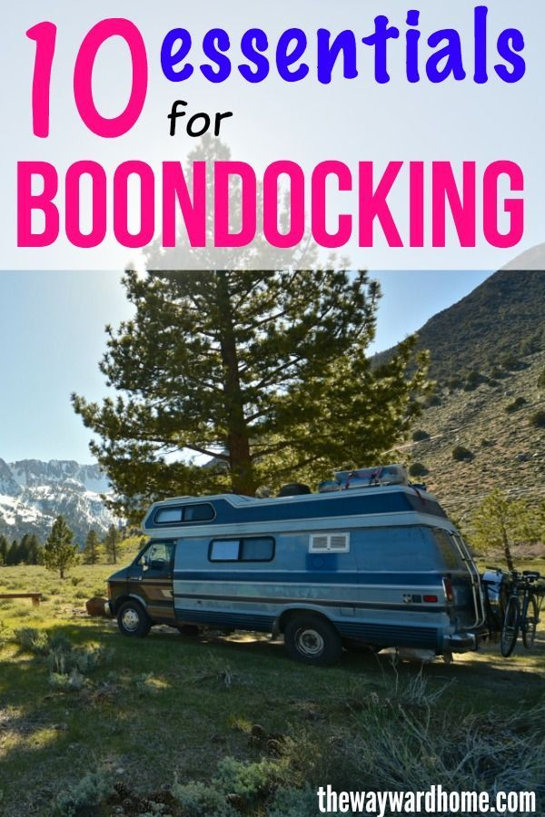 RV Boondocking: 10 essentials you'll need in 2020