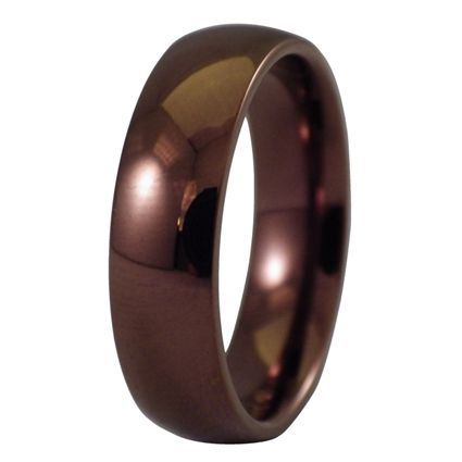 coffee ring dark copper ring wedding band a mens or womens hypoallergenic - Hypoallergenic Wedding Rings