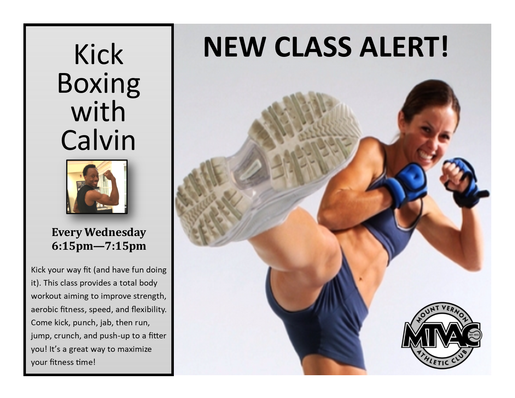 Mount Vernon Athletic Club Mtvac In 2020 Kickboxing Classes Aerobics Workout Fitness Body