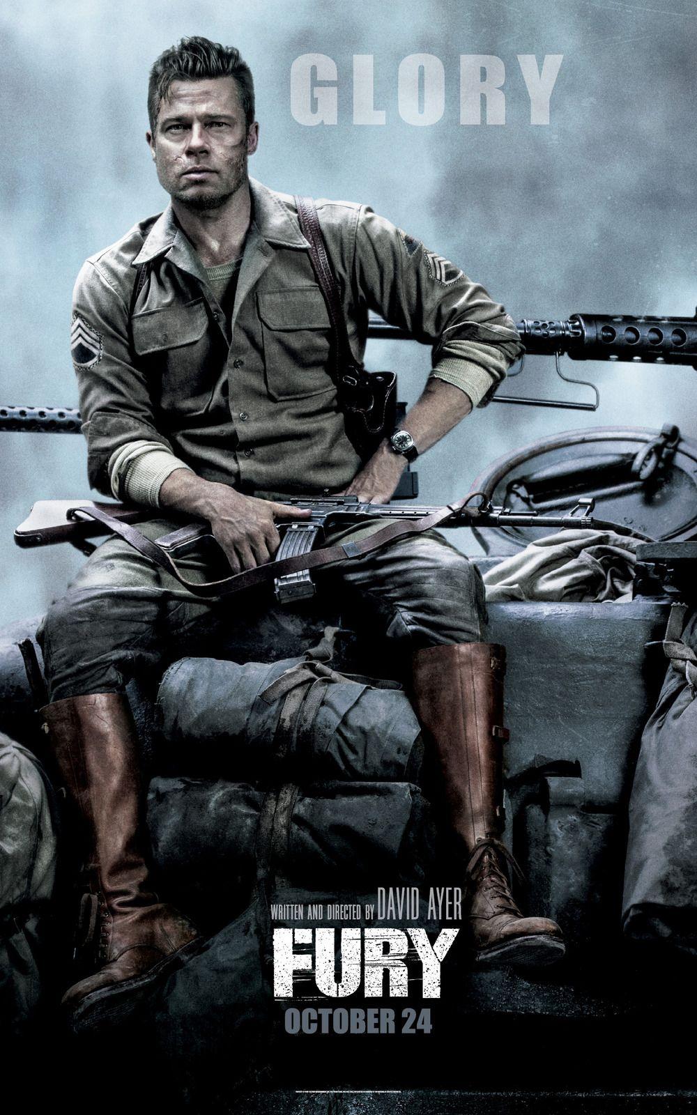 Fury (2014) Starring Brad Pitt UV Movie Poster v002 Fury