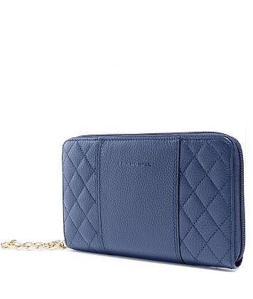 fa61c6d4f712 Синий женский клатч из натуральной кожи с ручкой на цепочке ...