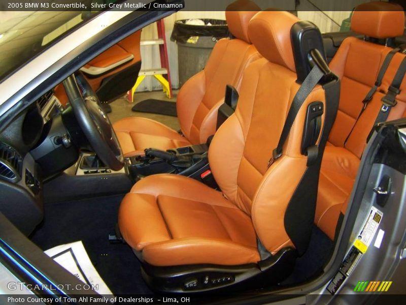 Silver Grey Metallic 2005 Bmw M3 Convertible With Cinnamon Brown