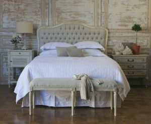 Love The Curve Of The Headboard And Tufted Fabric French Headboard Headboard Upholstered Headboard