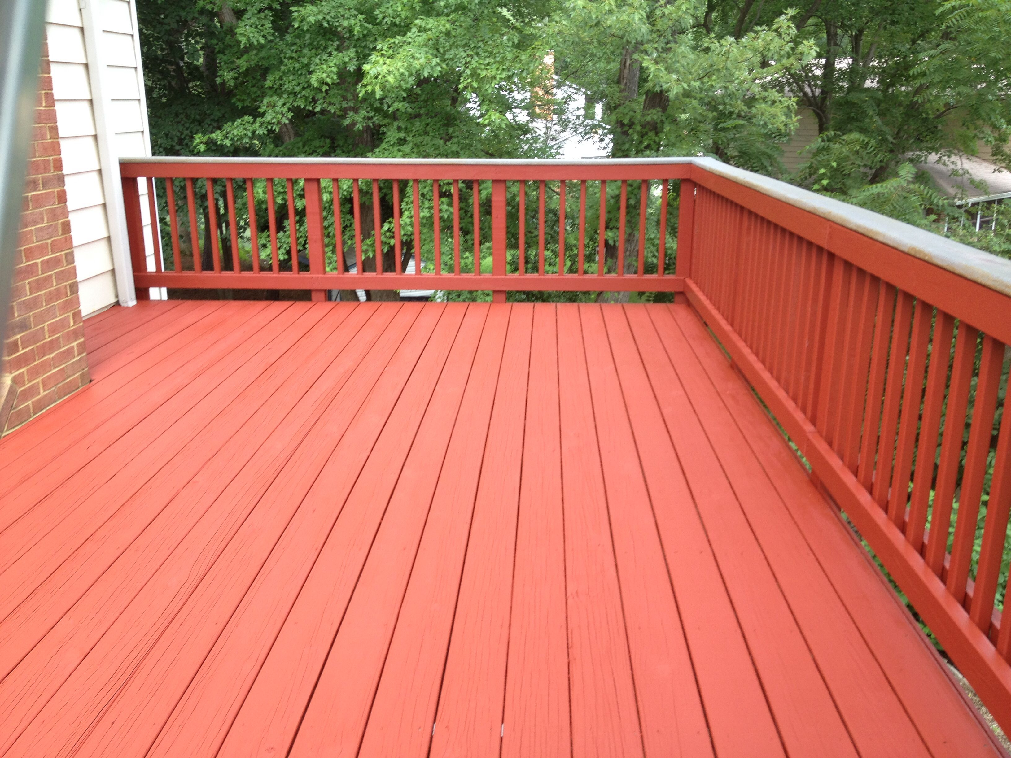 Deck Staining Services In Virginia Maryland And Washington D C Navajo Red Solid Color Stain Sikkens