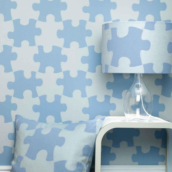 PaperBoy 'It's A Puzzle' Childrens Wallpaper #kidsrooms #kidswallpaper