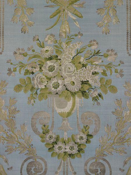 Furnishing fabric, woven silk, French,1797.