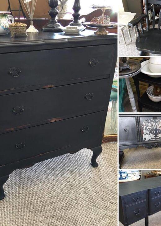 Dark Gray Furniture Paint Mudpaint Vintage