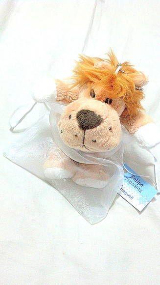 Leão de pelucia 14 cm de altura,  Incluso saquinho de celofane com fita tag e sacolinha personalizada com o tema da festa,  Pedido mínimo 10 unidades, R$ 12,50