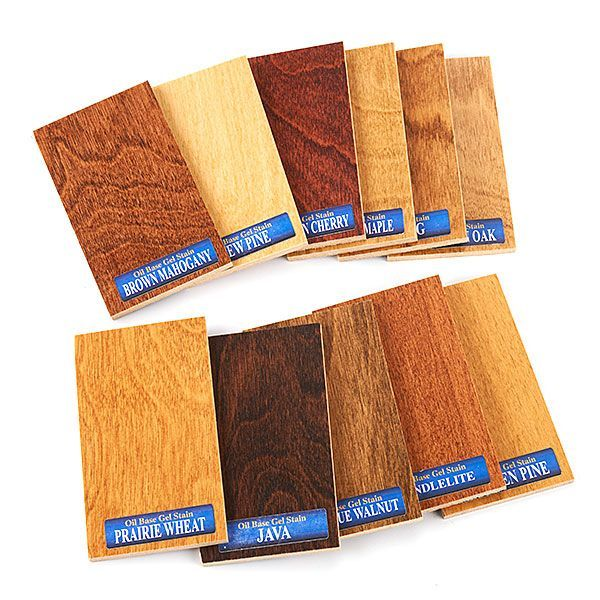 Buy General Finishes Gel Stain Color Chips at Woodcraft.com