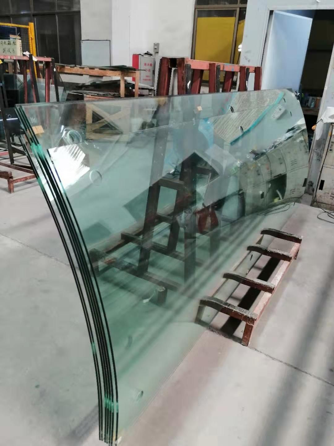 Wholesale Price 8mm Hot Bent Curtain Wall Tempered Sheet Glass Curved Glass Glass Suppliers Glass Curtain Wall
