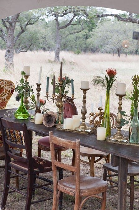 Gorgeous vintage wedding tablescape, styled by Silver Thistle Weddings & Events