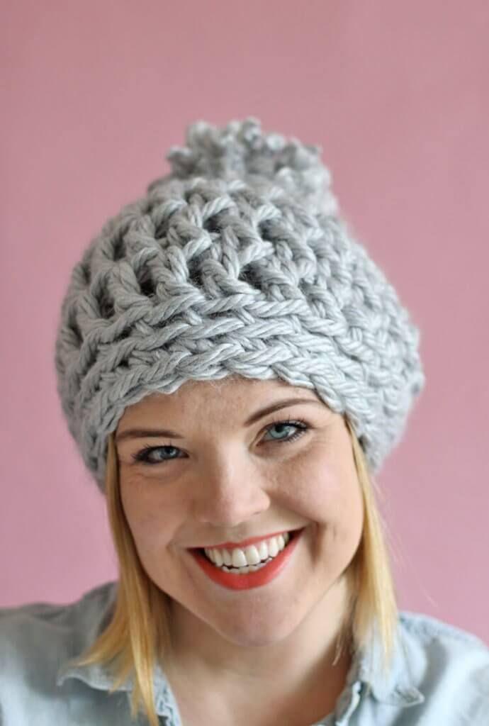 30 Minute Easy Chunky Crochet Beanie | My Crochet Blankets | Pinterest