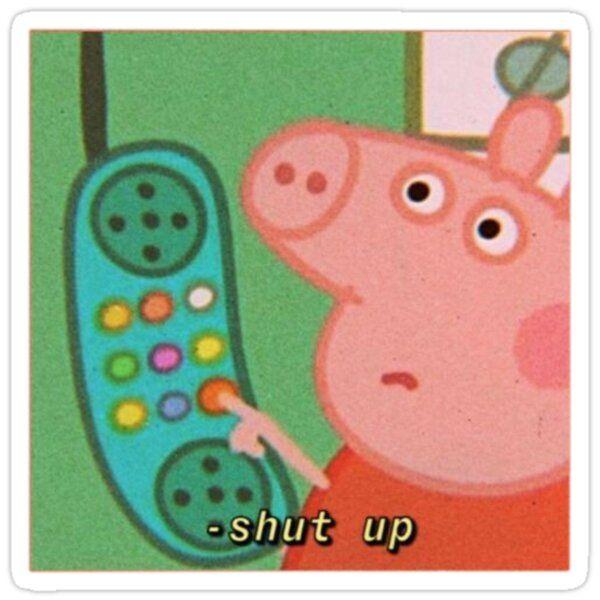 Peppa Pig Meme Sticker In 2020 Pig Memes Meme Stickers Stickers