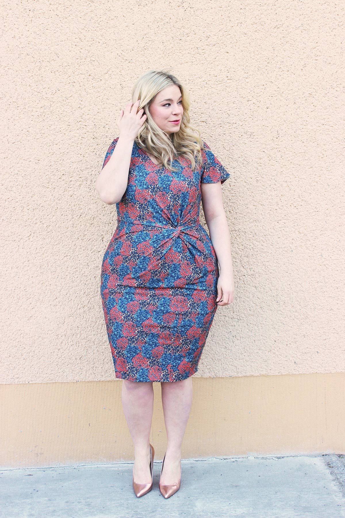 728b236709 German Plus Size Fashion Blogger Mega Bambi wearing Anna Scholz For Sheego  outfit