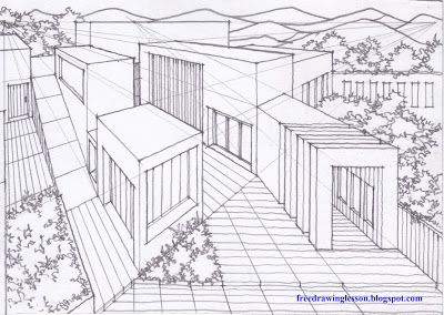 Free Lesson: How to draw a multi point perspective | SKETCH & DRAW ...