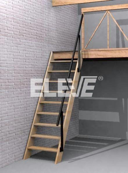 escaleras para cuartos estrechos - Buscar con Google depasideas - escaleras de madera rusticas