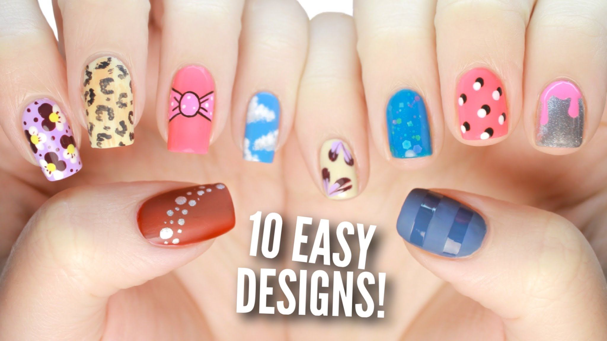 10 Easy Nail Art Designs For Beginners The Ultimate Guide 3 Nail Art For Beginners Easy Nail Polish Designs Simple Nails