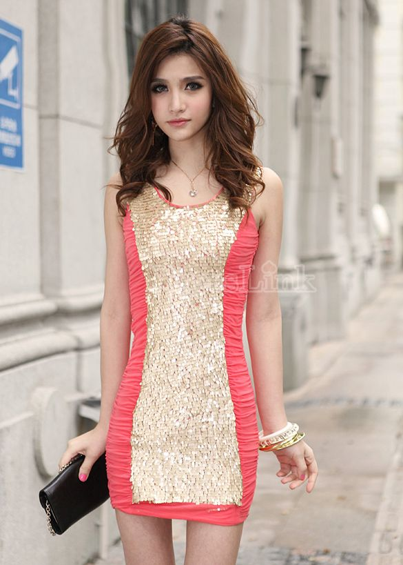 $7.10 NICE PINK PARTY DRESS