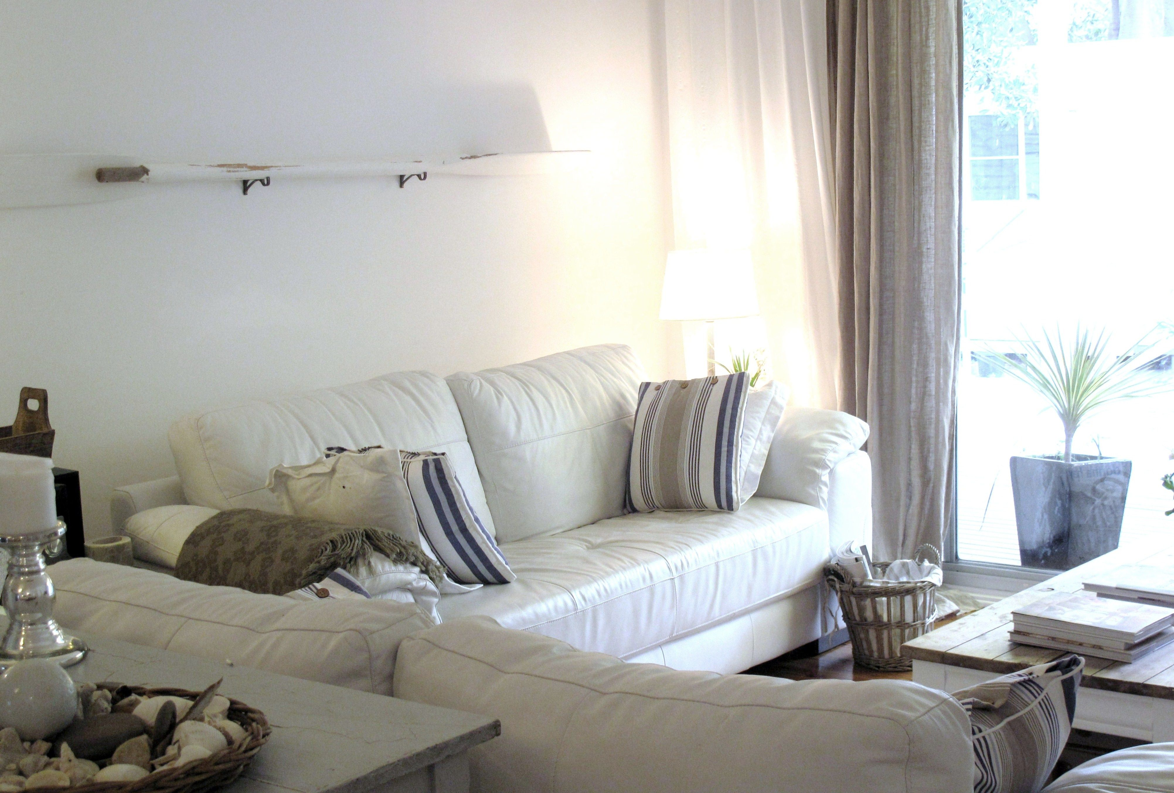 Before After Tour Life By The Sea White Leather Sofas Ikea Dining Room Beach Cottage Design