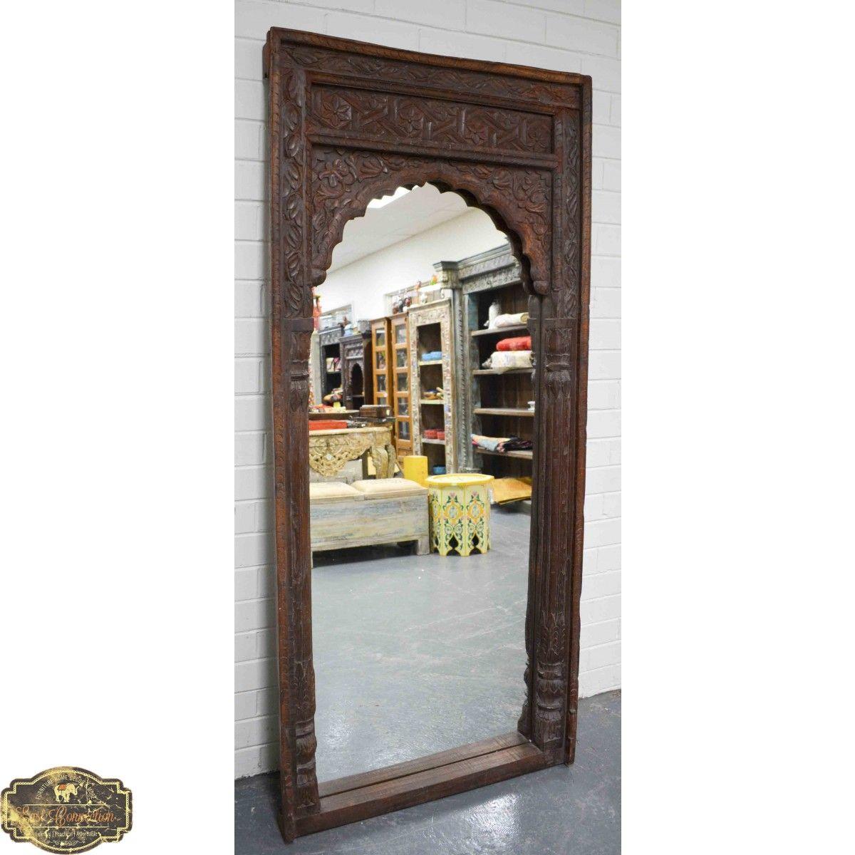 Vintage Indian Antique Mehrab Mirror | Mirror, Vintage ...