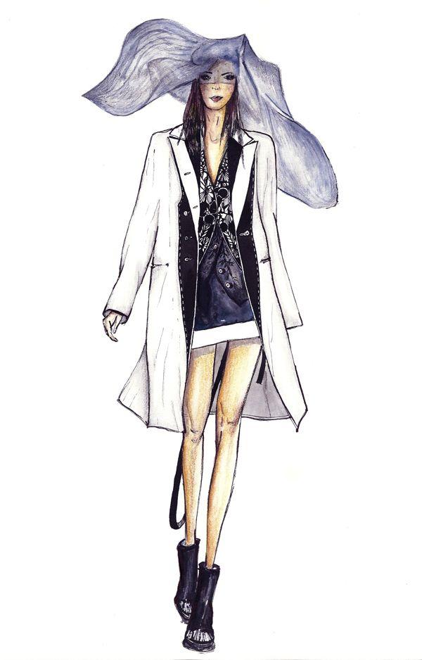 Ann Demeulemeester by AP Fashion Illustration, via Behance