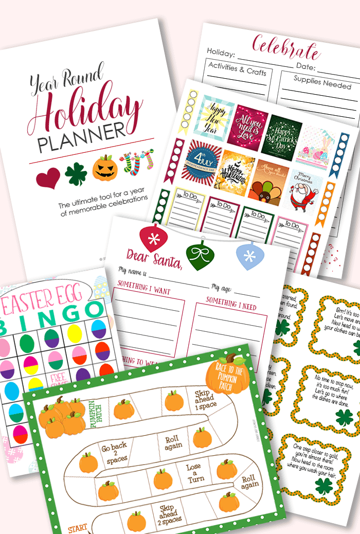 Printable Holiday Planner for a Year of Family Celebrations  American ExpressDinersDiscoverJCBMasterCardPayPalSelzVisa