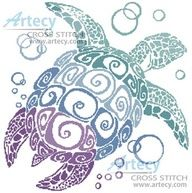 Sea Turtles Hatching ~ Seascapes ~ Counted Cross Stitch Pattern