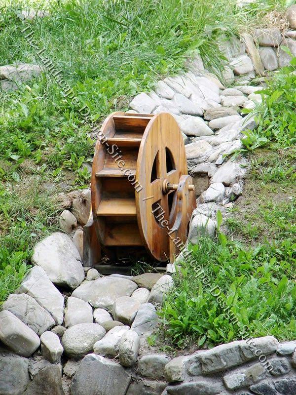 Water Wheel Garden Feature